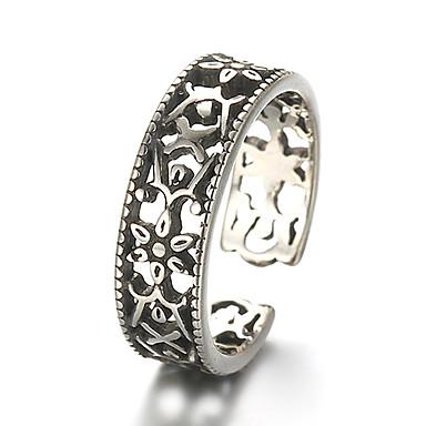 Unisex Bandring Justerbar ring tumring Silver Sterlingsilver Silver Vintage Punk Dagligen Casual Smycken