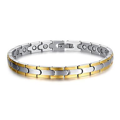 Kedje & Länk Armband Kors Personlig Mode Rostfritt stål Armband Smycken Silver Till Julklappar Dagligen Casual