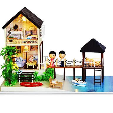 för ett hem DIY produkter hut Maldiverna manuell montering hus kinesiska Alla hjärtans dag gåva