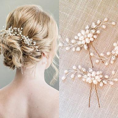 povoljno Party pokrivala za glavu-Biseri / Kristal Kose za kosu / Kosa za kosu s 1 Vjenčanje / Special Occasion Glava