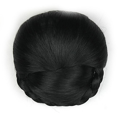 kinky lockigt svart mode människohår Capless peruker chignons 2
