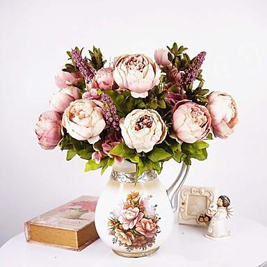 povoljno Umjetno cvijeće & Vases-Svila Europska Style Buket Cvjeće za stol Buket 1