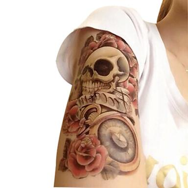 Ogiftig / Mönster / Halloween tillfälliga tatueringar Blomserier Halloween / Stor storlek Body art Brachium