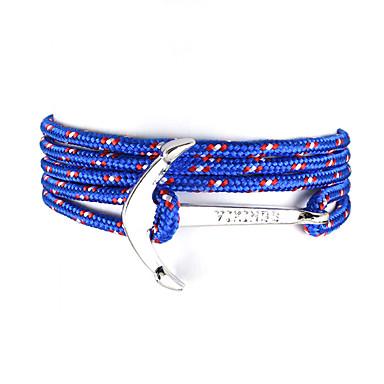 Herr Dam Berlock Armband Mode Nylon Armband Smycken Grön / Svart / blå / Mörkgrön Till Bröllop Party Dagligen Casual Sport