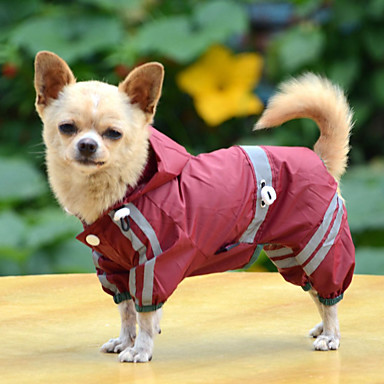 cheap Dog Clothes-Dog Rain Coat Raincoat Solid Colored Waterproof Windproof Outdoor Dog Clothes Yellow Red Green Costume Baby Small Dog Acrylic Fibers XS S M L XL XXL