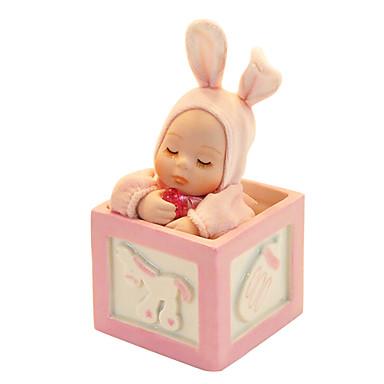 keramik rosa / blå kreativa romantisk speldosa för gåva