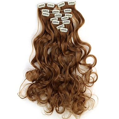 levne Syntetické příčesky-Rozšíření lidský vlas Vlnitá Klasický Umělé vlasy Příčesky z pravých vlasů Dámské X5