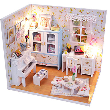 1st diy huset varmt och söta rosa prinsessa kreativa gåvor en present pedagogiska leksaker lampor LED-lampa