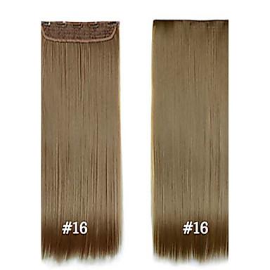 halpa Synteettiset hiuspidennykset-Synteettiset hiukset Hiusten pidennys Suora Classic Clip In Päivittäin Korkealaatuinen