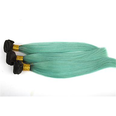 povoljno Ekstenzije od ljudske kose-3 paketa Brazilska kosa Ravan kroj Klasika Virgin kosa Ljudske kose plete Ombre Isprepliće ljudske kose Proširenja ljudske kose / 10A