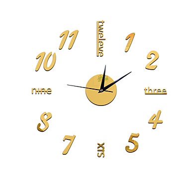 cheap Wall Clocks-Casual / Modern Contemporary / Office / Business Plastic Round Holiday / Houses / Inspirational Indoor AA Decoration Wall Clock Digital No