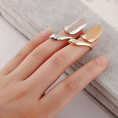 billige Motering-Dame Nail Finger Ring Midi Ring Sølv Gylden Sølvplett Gullbelagt Personalisert Uvanlig Unikt design Daglig Avslappet Smykker Billig Søtt