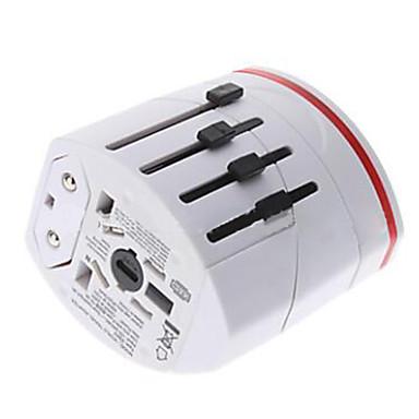 Laddare till hemmet USB-laddare USA-kontakt / EU-kontakt / UK-kontakt Flera portar 2 USB-portar 2.1 A / 1 A för / AU-kontakt