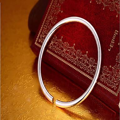 levne Dámské šperky-Dámské Široké náramky Módní Stříbro Náramek šperky Stříbrná Pro