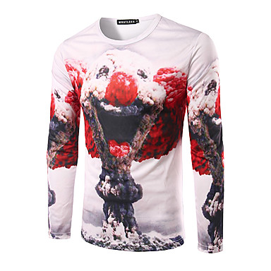 f741dc83717b 3D T-Shirt Mushroom Cloud Clown Print Cosplay T-Shirt Geeky Round Neck Long  Sleeves For Male Female 5069188 2019 –  13.99