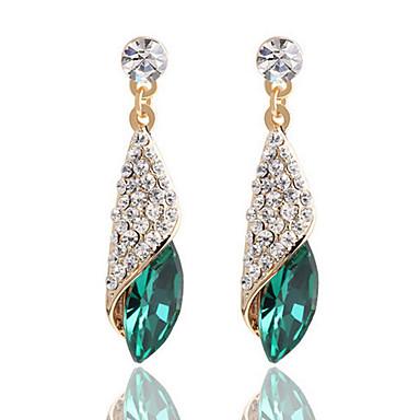 preiswerte Ohrringe-Damen Klar Schwarz Blau Kristall Tropfen-Ohrringe Prinzessin Ohrringe Schmuck Schwarz / Grün / Blau Für 1pc
