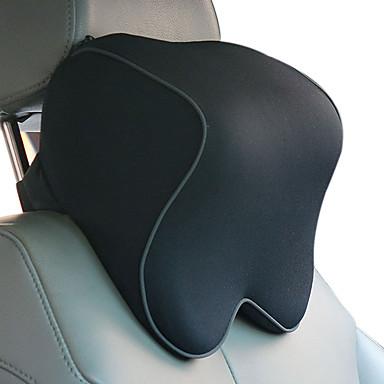 billige Interiørtilbehør til bilen-bilhodestøtter svart bomull som er funksjonell for universal alle modeller av bomullssetehodestøtte