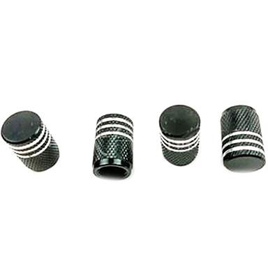 preiswerte Auto Ventilkappen-4 Stk. Farbe Aluminium Autozubehör Reifenventil Staubkappe Schutzkappe schwarz