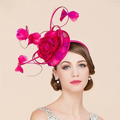 preiswerte Partyhut-Flachs / Feder Kentucky Derby-Hut / Fascinatoren / Hüte mit 1 Hochzeit / Besondere Anlässe / Normal Kopfschmuck