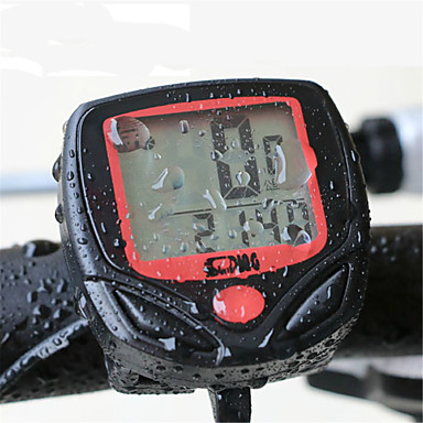 billige Sykkeltilbehør-Sykkelcomputer Vanntett LED Lys Trådløs Nattsyn Trippteller Til Vei Sykkel Fjellsykkel Foldesykkel Sykling Syntetisk Rød 1 pcs