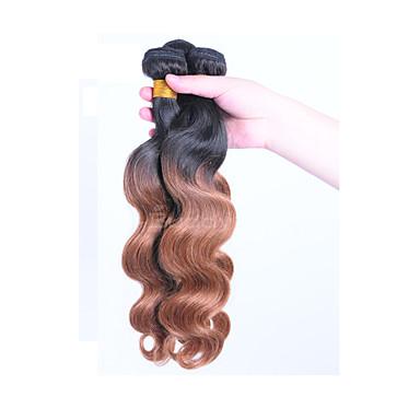povoljno Ekstenzije od ljudske kose-Brazilska kosa Tijelo Wave Ljudska kosa Ombre Ombre Isprepliće ljudske kose Proširenja ljudske kose / 8A