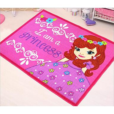 levne Doplňky do interiéru-Jebsen koberec princess růžový vůz karikatura dětský pokoj podporující plazení podložku