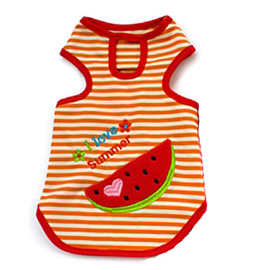 Hund T-shirt Hundkläder Frukt Purpur Gul Röd Cotton Kostym Till Sommar