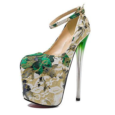 női cipők 19cm sarok magasság szexi kerek toe tűsarkú szivattyúk fél cipő  több színben 5081305 2019 –  84.99 9672410776