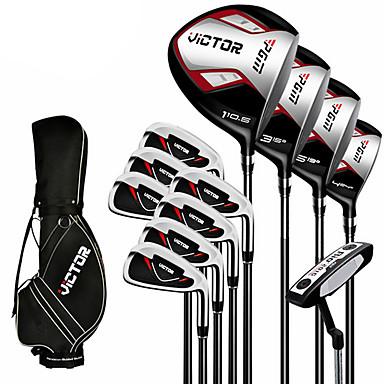 Golfklubbor Träningsklubba med laser Golfset Fairway woods Putters Golf Zink Alloy Kol Aluminiumlegering Golf Slitsäker