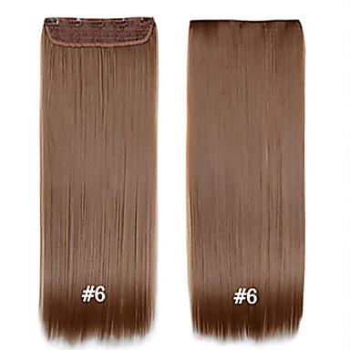 povoljno Ekstenzije za kosu-Ravan kroj Kopče Sintentička kosa 22 inča Ugradnja umetaka S kopčom Isječak U / S Žene Dnevno