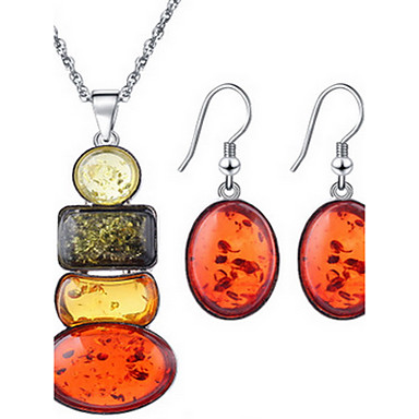 cheap Jewelry Sets-Women's Jewelry Set Necklace / Earrings Earrings Jewelry Orange For Party