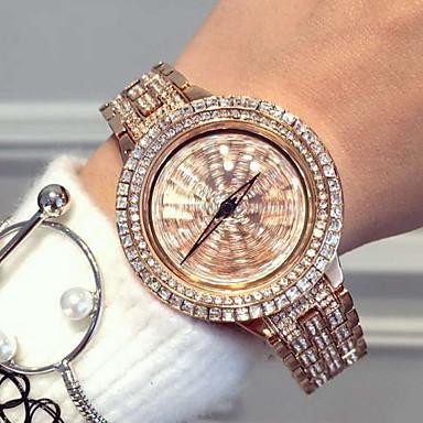 levne Dámské-Dámské Módní hodinky Křemenný Japonské Quartz Nerez Stříbro / Růžové zlato Hodinky na běžné nošení Analogové Třpyt - Stříbrná Růžové zlato