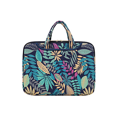"""cheap Laptop Bags & Backpacks-14.3"""" 15.6"""" Laptop Bag Briefcase Handbags Fabrics Flower for Macbook/Surface/HP/Dell/Samsung/Sony Etc"""