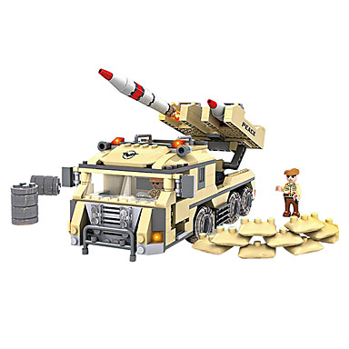 Byggklossar Militära block Soldier ABS Leksaker Present 436 pcs