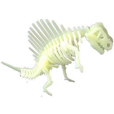 LED-belysning Klistermärken Pussel Dinosaurie Lysrör Självlysande Bakgrundsbelysning Plast Barn Pojkar Flickor Leksaker Present