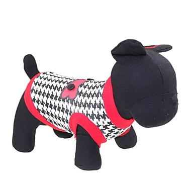 Katt Hund T-shirt Hundkläder Andningsfunktion Röd Kostym Cotton Blommig Botanisk Mode XS S M L