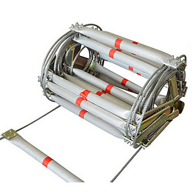 20M Escape Fiber Wire Safety Rope Ladder Soft Construction Fall ...