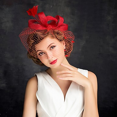 cheap Party Headpieces-Tulle / Feather Fascinators with 1 Special Occasion / Tea Party / Horse Race Headpiece