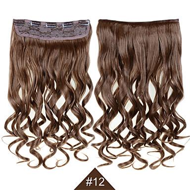 levne Syntetické příčesky-Hair kus Kudrny Vlnitá Umělé vlasy Prodlužování vlasů Připínací Denní