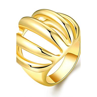 Dam Bandring Statement Ring Brun Rosguld 18K Guldpläterad Ädelsten Guldpläterad Geometrisk Statement Ovanligt Unik design Bröllop Party Smycken