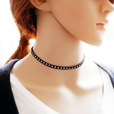 levne Dámské šperky-Dámské Obojkové náhrdelníky tetování obojek Tetování Módní Krajka Látka Černá Náhrdelníky Šperky Pro Denní Ležérní