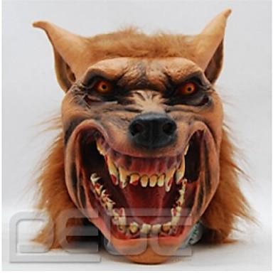 halloween latex mask obehagligt wolf huvud djur mask halloween cosplay dräkt vuxen parti masker droppe