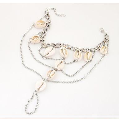 Dam Ankelkedja fötter smycken Tofs Bikini Mode Skal Ankelkedja Smycken Silver Till Party Dagligen Casual