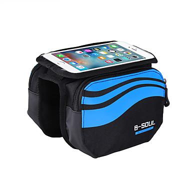 B-SOUL Mobilväska Väska till cykelramen Pekskärm Stötsäker iPhone hållare Cykelväska Nylon Cykelväska Pyöräilylaukku iPhone X / iPhone XR / iPhone XS Cykling / Cykel / iPhone XS Max