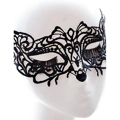 levne Dámské šperky-Sey styl černá / bílá krajka maska pro halloween party dekorace Masker maškaráda