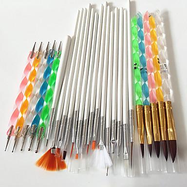povoljno Rasprodaja-15pcs Pribor za umjetnost noktiju Lagan snaga i izdržljivost Klasik Moda Dnevno Nail art alat Četke za nokte za