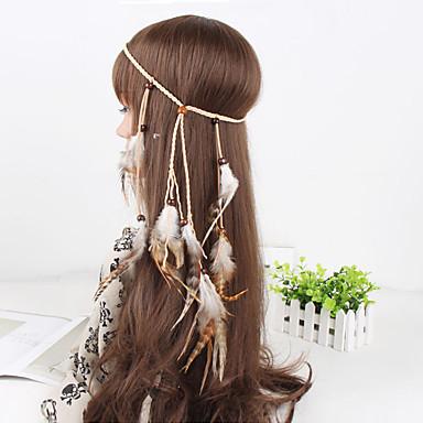 levne Dámské šperky-Dámské Elegantní Peří / Kožešina Peří Látka Šperky do vlasů Ležérní Venkovní