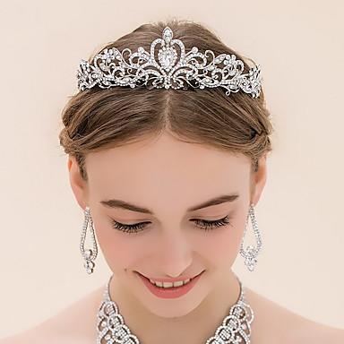 povoljno Party pokrivala za glavu-Umjetno drago kamenje / Legura tijare s 1 Vjenčanje Glava