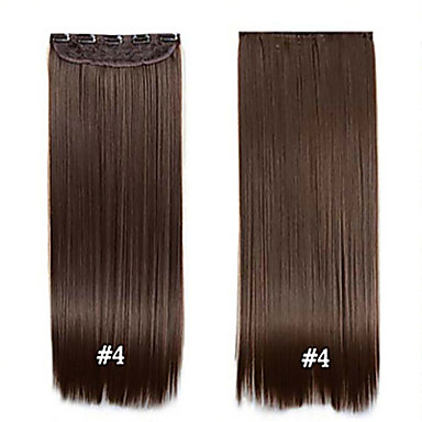 22 inch Synthetic Hair Hair Extension Clips Clip In Clip In/On Daily ...