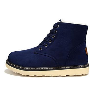 Hombre Zapatos Cuero de Napa Otoño invierno Botas de Moda / Forro de pelusa Botas Botines / Hasta el Tobillo Negro Tiuoa